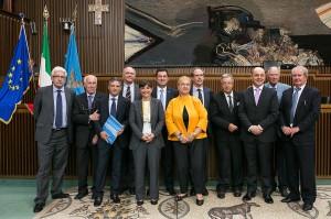 autorità FVG e premiati dell'associazione Giuliani nel Mondo